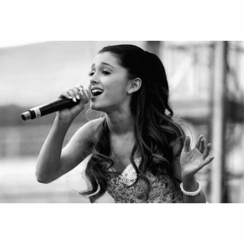 "Ariana Grande Black and White Poster 24""x36"""