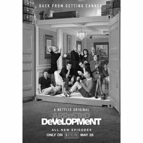 """Arrested Development Black and White Poster 24""""x36"""""""