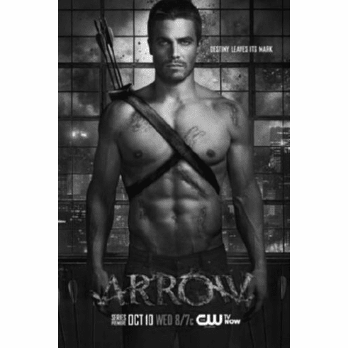 "Arrow Black and White Poster 24""x36"""