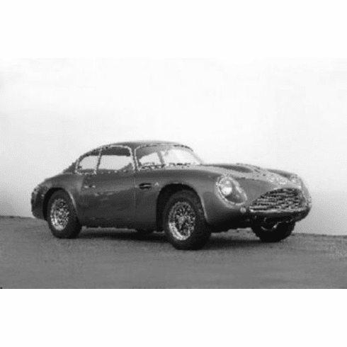 "Aston Martin Db4 Zagato Black and White Poster 24""x36"""