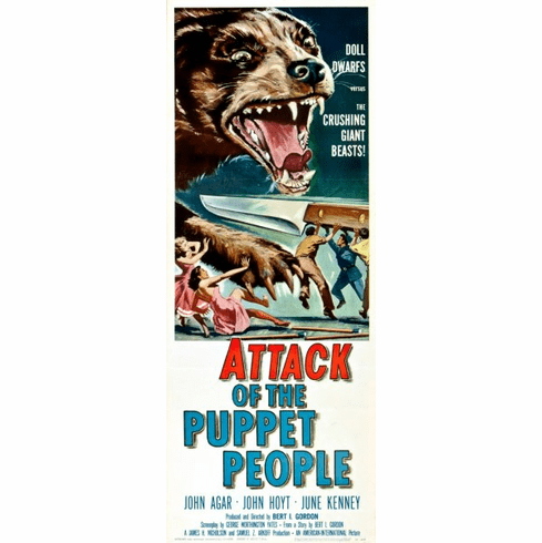 Attack Of The Puppet People 14x36 Insert Movie Poster