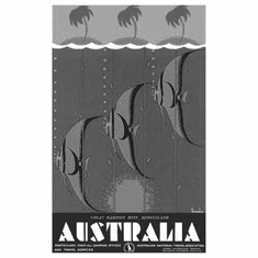 "Australia Great Barrier Reef Black and White Poster 24""x36"""