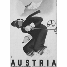"Austria Black and White Poster 24""x36"""