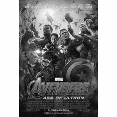 "Avengers Age Of Ultron Black and White Poster 24""x36"""