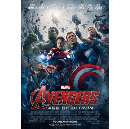 Avengers Age Of Ultron Movie Poster 24in x36in