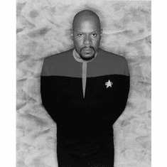 """Avery Brooks Black and White Poster 24""""x36"""""""