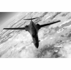 """B1 Bomber In Flight Black and White Poster 24""""x36"""""""