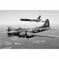 """B17 And B52 Black and White Poster 24""""x36"""""""