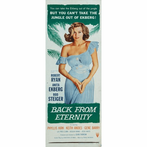 Back From Eternity 14inx36in Insert Movie Poster