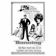 "Banning Black and White Poster 24""x36"""