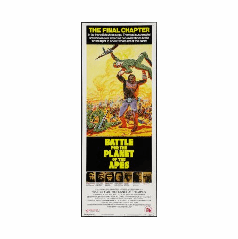Battle For The Planet Apes Movie Poster Insert 14x36 #01