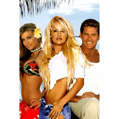 Baywatch Poster Hasselhoff Anderson Electra 24inx36in