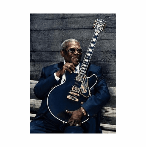 Bb King Poster Guitar 24in x36 in
