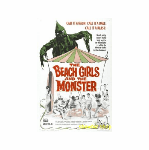 Beach Girls And The Monster Movie Poster 11x17 Mini Poster
