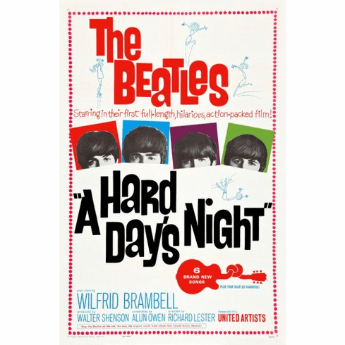 Beatles A Hard Days Night Movie Poster 24inx36in