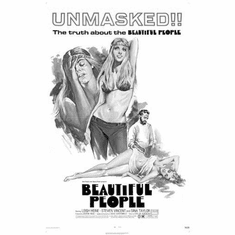 "Beautiful People Black and White Poster 24""x36"""