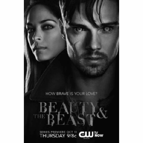 "Beauty And The Beast Black and White Poster 24""x36"""