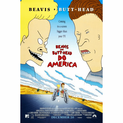 Beavis And Butthead Movie Poster Do America 24inx36in
