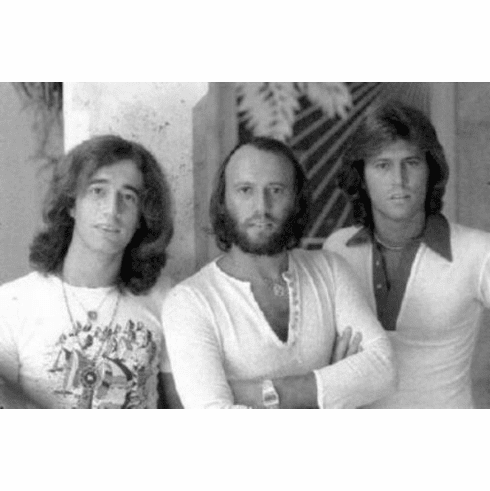 "Bee Gees Black and White Poster 24""x36"""