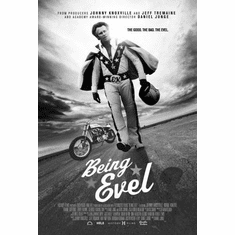 "Being Evel Black and White Poster 24""x36"""