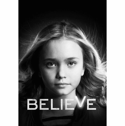 "Believe Black and White Poster 24""x36"""