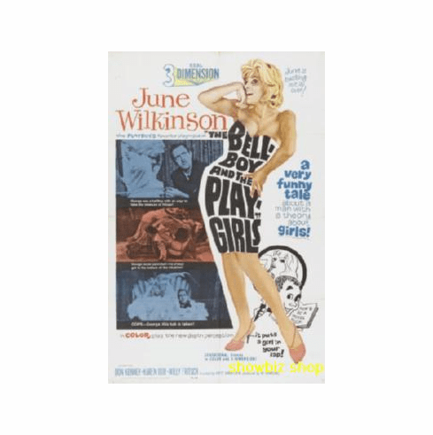 Bellboy And Playgirls June Wilkinson Movie Poster 11x17 Mini Poster