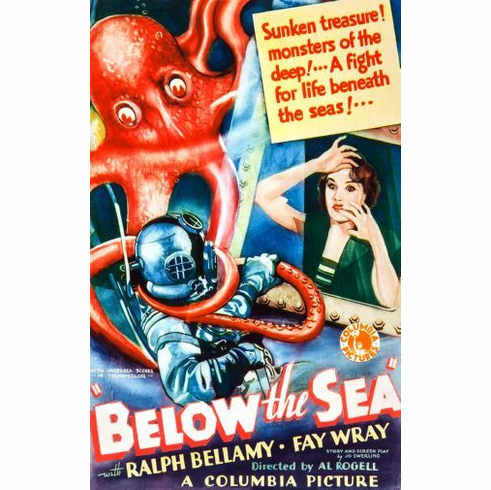 Below The Sea Movie Mini poster 11inx17in