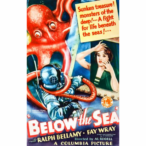 Below The Sea Movie Poster 24in x36in
