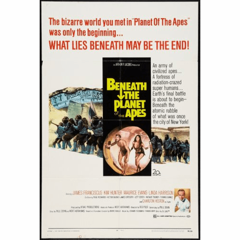 Beneath The Planet Of The Apes Movie Poster 24inx36in