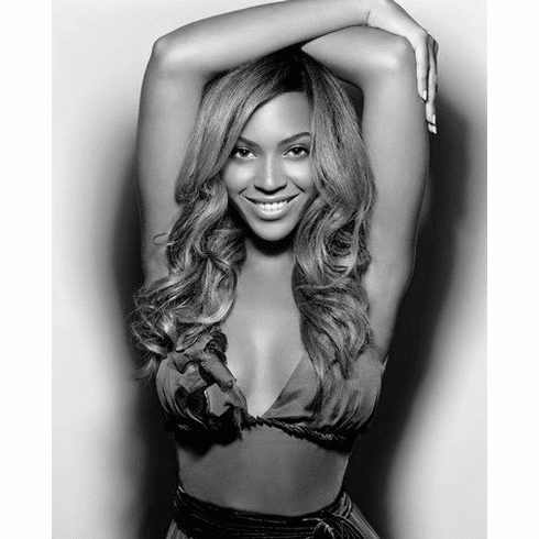 "Beyonce Black and White Poster 24""x36"""