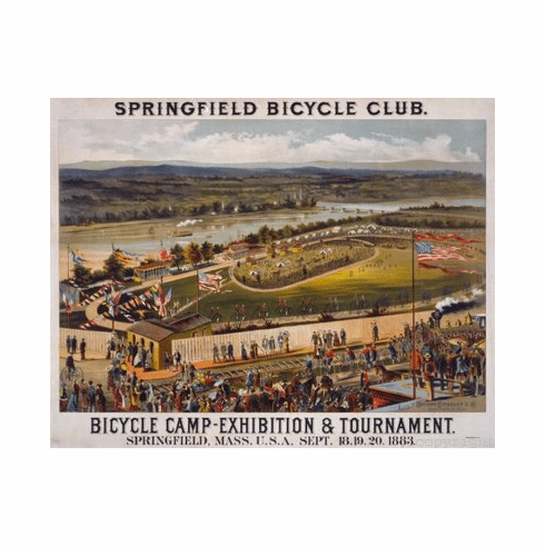 Bicycle Camp 1883 Poster exhibition cycling 24inx36in