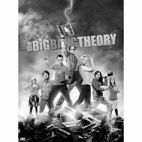 "Big Bang Theory Black and White Poster 24""x36"""