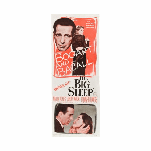 Big Sleep The Movie Poster Insert 14x36 #01