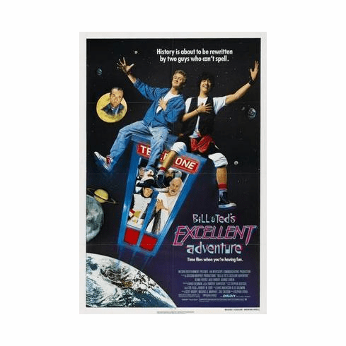Bill And Teds Excellent Adventure Movie Poster 24in x36 in