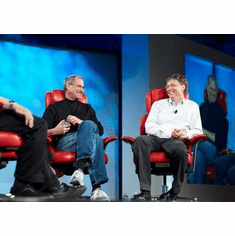 Bill Gates And Steve Jobs Poster 24in x36 in