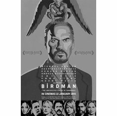 "Birdman Black and White Poster 24""x36"""