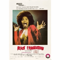 Black Frankenstein Mini Movie Poster 11x17