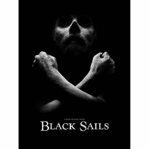"Black Sails Black and White Poster 24""x36"""