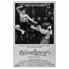 "Bloodsport Black and White Poster 24""x36"""