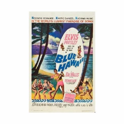 Blue Hawaii Poster 24inx36in