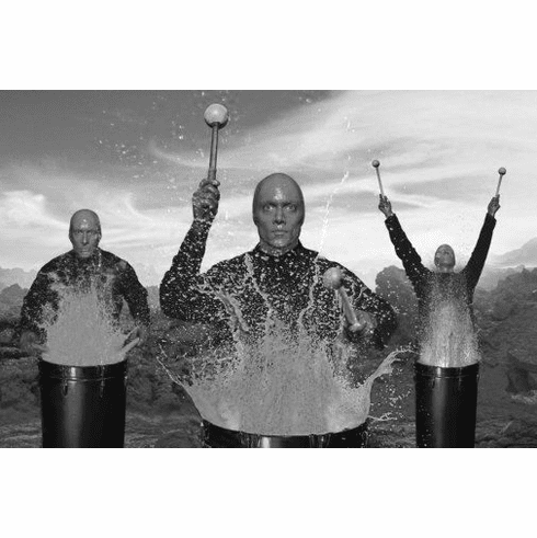 "Blue Man Group Black and White Poster 24""x36"""