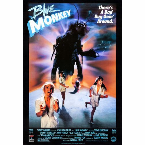 Blue Monkey Movie Mini poster 11inx17in
