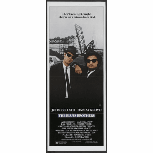 Blues Brothers 14inx36in Insert Movie Poster