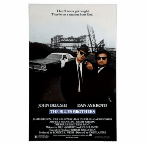 Blues Brothers Movie Poster 24inx36in