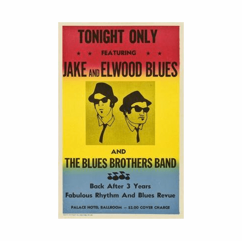 Blues Brothers, The Movie Poster 24in x36 in