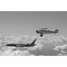 """Boeing Legacy Black and White Poster 24""""x36"""""""