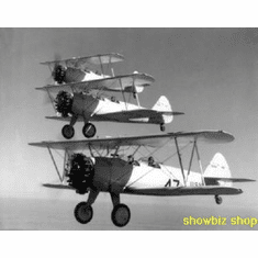 Boeing Stearman In Formation 8x10 photo Master Print