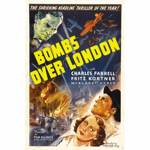 Bombs Over London Movie Poster 24in x36in