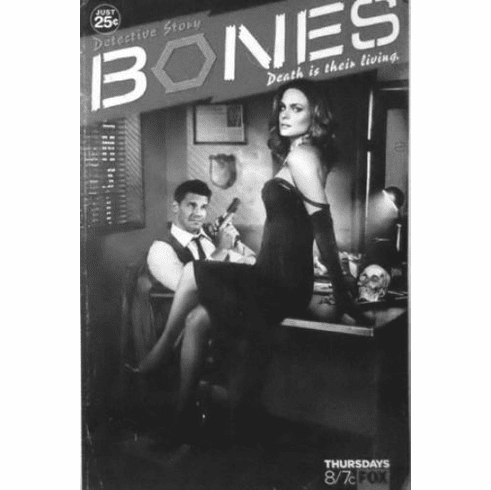 "Bones Black and White Poster 24""x36"""