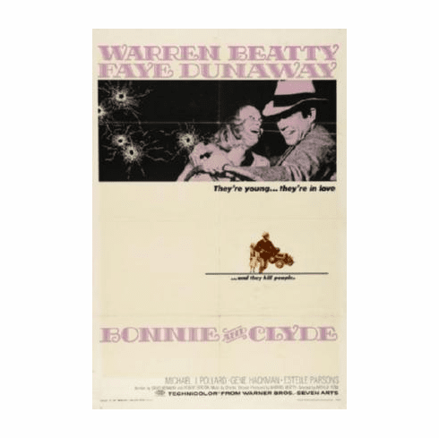 Bonnie And Clyde Movie Poster 24inx36in